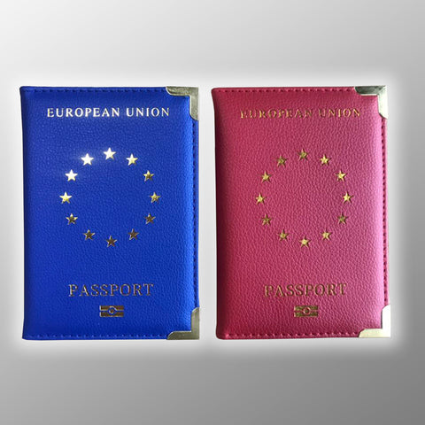 Pro EU Passport Cover - Gold Foil Stamped