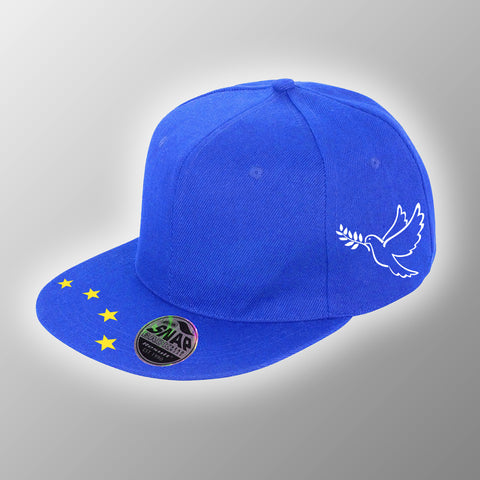 EU Snap-Back Flat Peaked Hat / DOVE OF PEACE