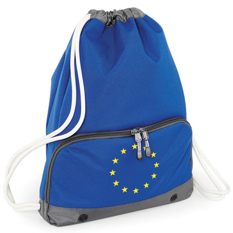 'Flag of Europe' Pocketed Drawstring Bag