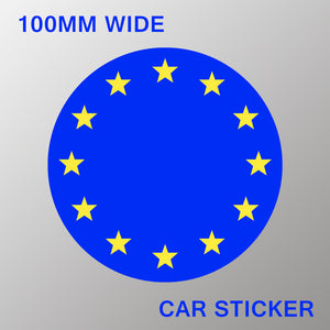 'Flag of Europe' Car Stickers