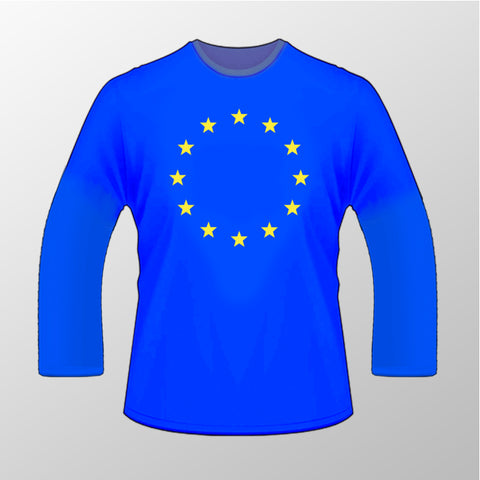 Flag of Europe Long Sleeved T Shirt