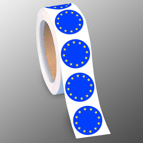 Flag of Europe 40mm Gloss Paper Stickers