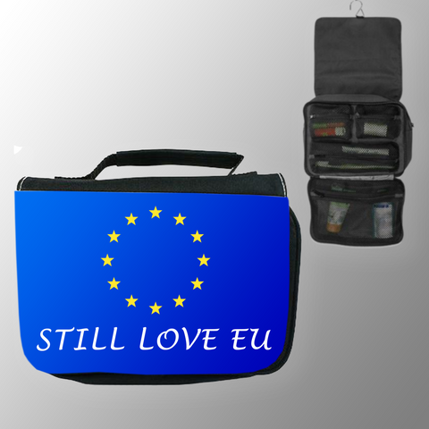 'Still Love EU' Hanging Wash Bag