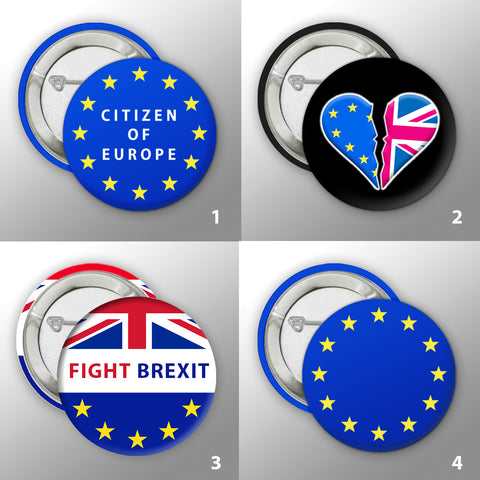 #FIGHTBREXIT Button Badge Collection