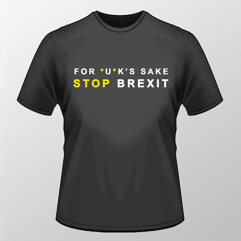 For UK's Sake T Shirt - Black