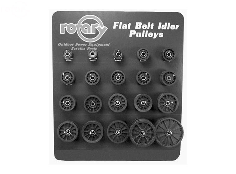 ASSORTMENT FLAT IDLER COMPOSITE PULLEYS