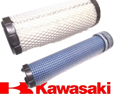 Kawasaki Genuine 11013-7044 & 11013-7045 Inner & Outer Air Filter Combo OEM
