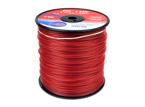 TRIMMER LINE .095 3LB SPOOL RED COMMERCIAL