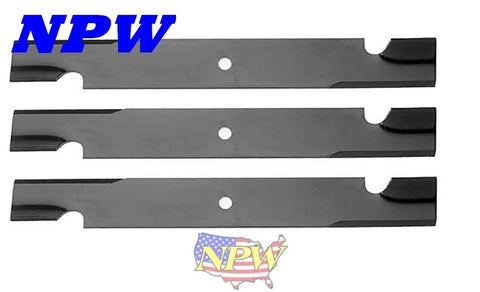 "(3) 6083 ,91-264 High Lift Blades 60"" Toro Exmark Gravely Chopper Ariens"