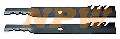 "2 pak COPPERHEAD MULCHING BLADE FOR AYP 21""X 5 POINT STAR"