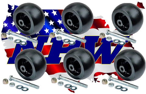 6 Hustler Mower Deck Wheel KITS - Raptor SD, Super Z, Hustler Sport, FasTrak SD,788166 31997 781567 781708