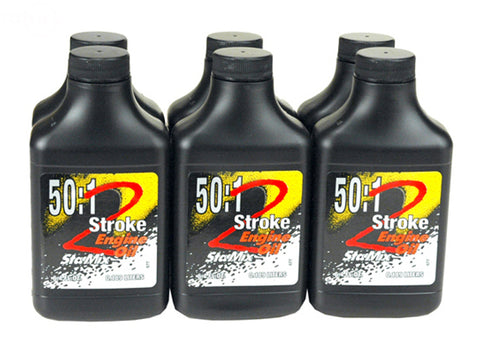 PAK OF 6 OIL TWO CYCLE 50:1 MIX 24/6.4 (TWO/2-STROKE)