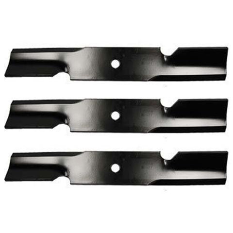 "(3 Pack) Oregon Premium Replacement 17"" x 2 1/2"" Notched Lawn Mower Deck Blade 