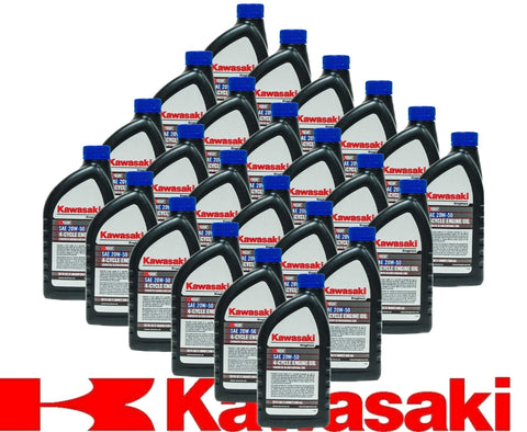 Kawasaki 24PK SAE 20W50 4-Cycle Engine Motor Oil OEM# 99969-6298 Quart Bottle