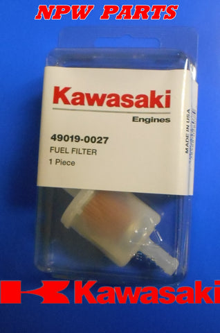 GENUINE OEM KAWASAKI 49019-0027 FUEL FILTER REP 49019-7001 49019-0707 49019-0014