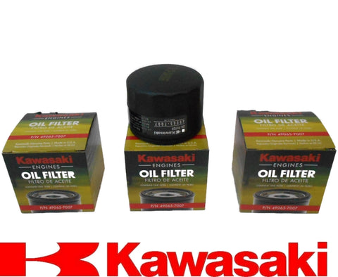 Pack of 3 Genuine Kawasaki 49065-7007 Oil filter Made in the USA