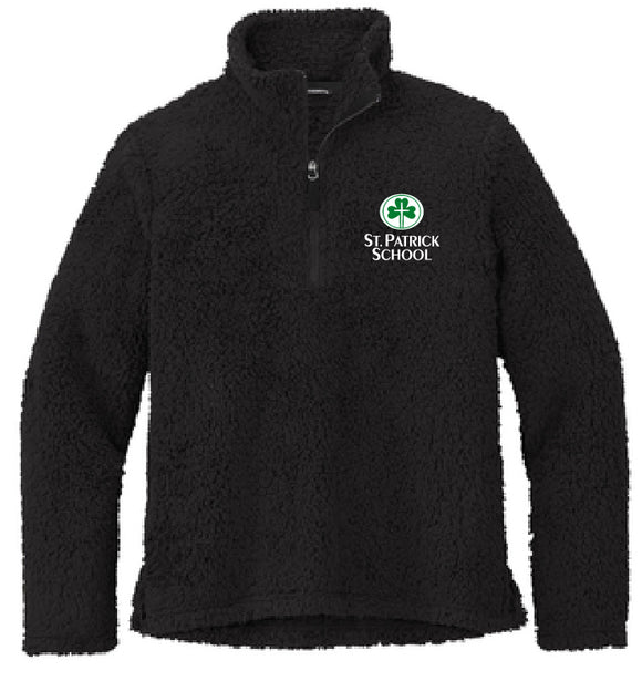 St. Patrick school embroidered sherpa 1/4 zip