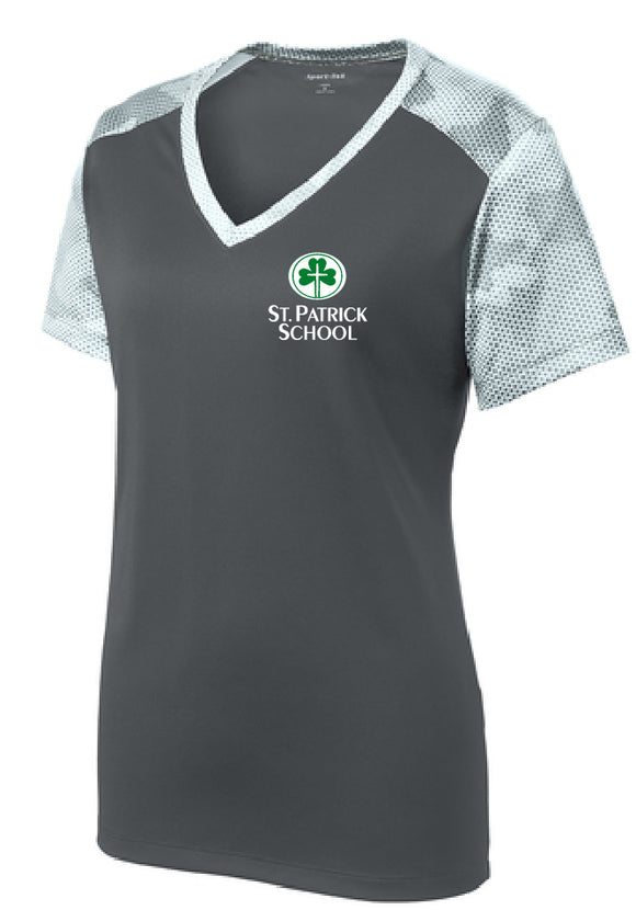 St. Patrick School short sleeve ladies fit performance