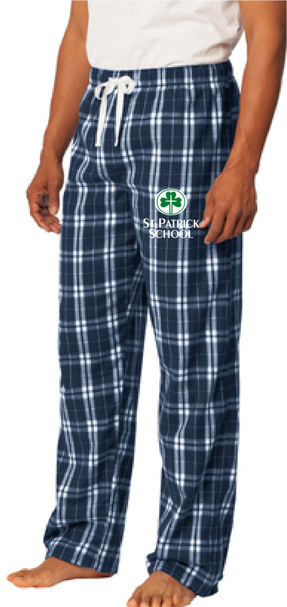 St. Patrick school embroidered flannel pants