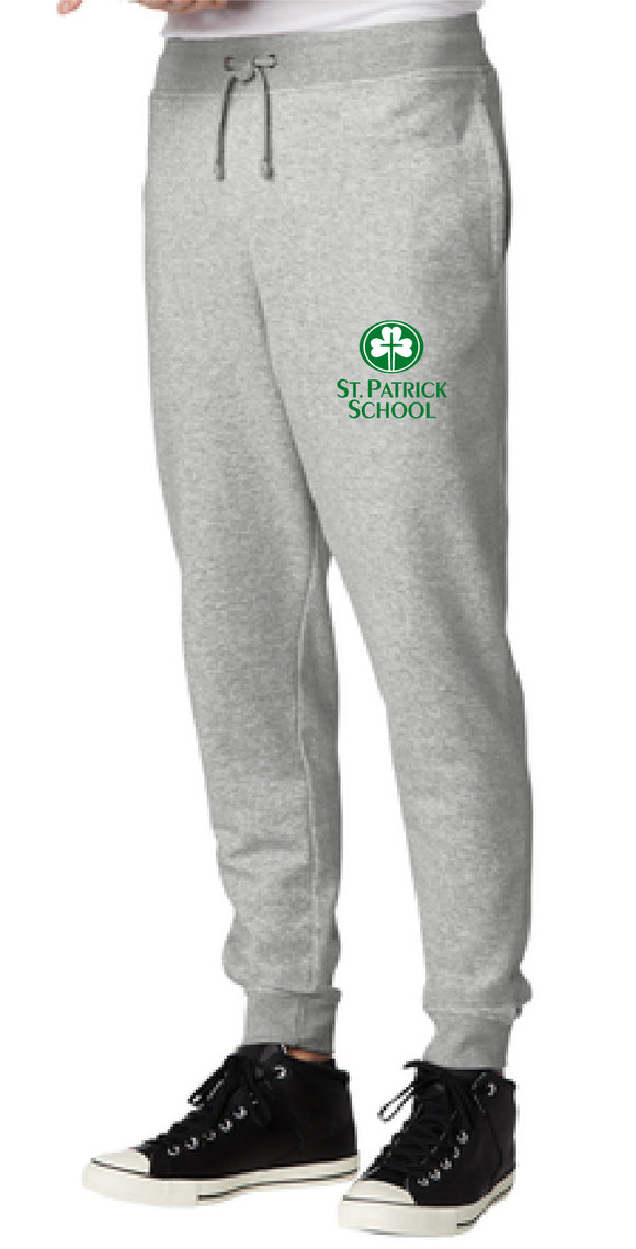 St. Patrick school embroidered joggers