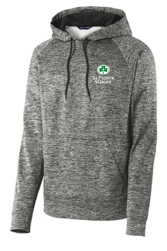 St. Patrick school heather performance hoodie