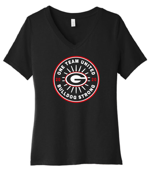 Jr Bulldogs One Team United ladies v-neck