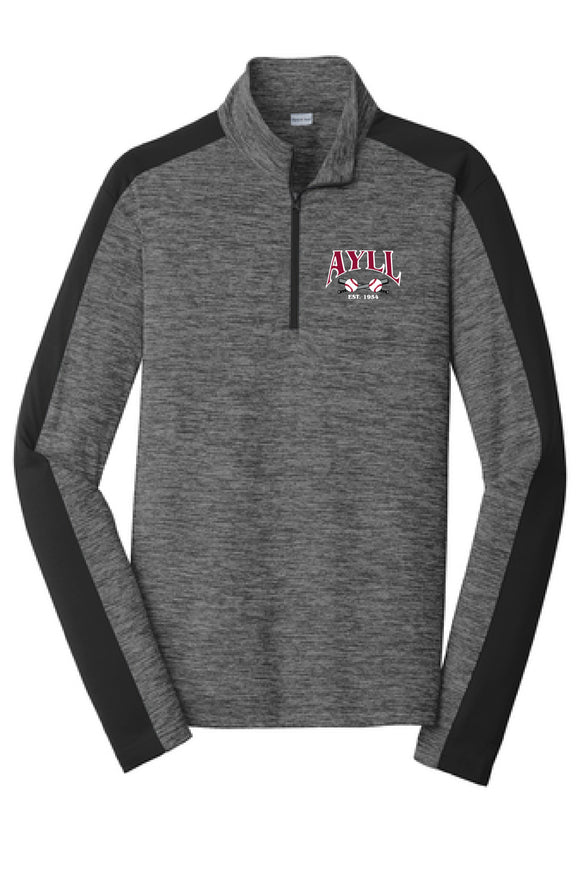 AYLL heather performance 1/4 zip