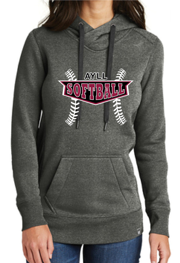 AYLL softball ladies fit hoodie