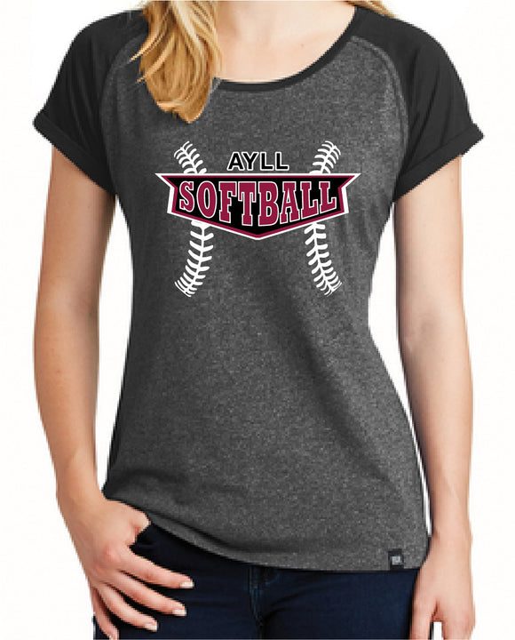 AYLL softball ladies short sleeve
