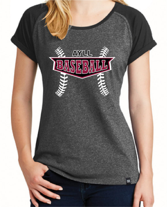 AYLL baseball ladies short sleeve