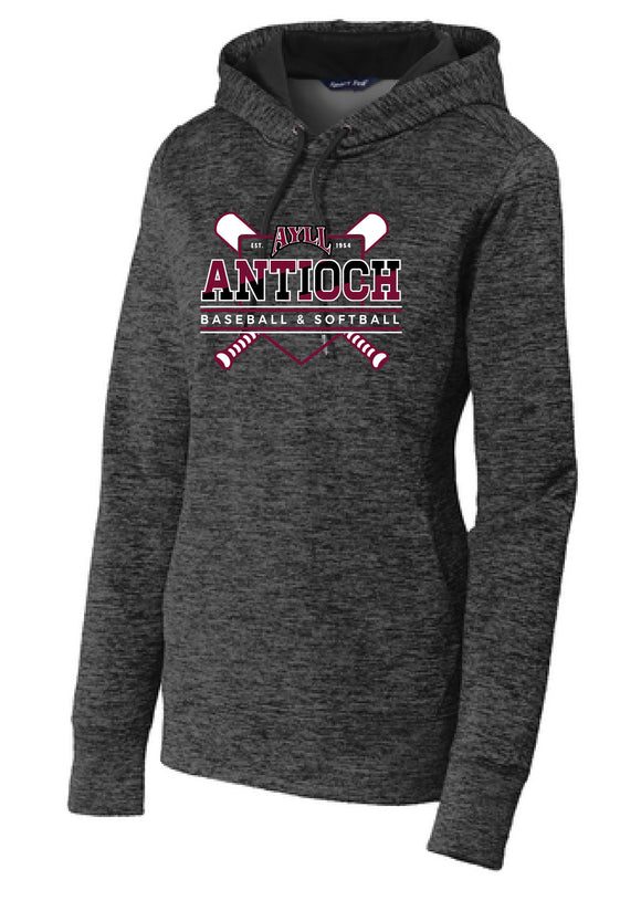 AYLL heather ladies fit performance hoodie