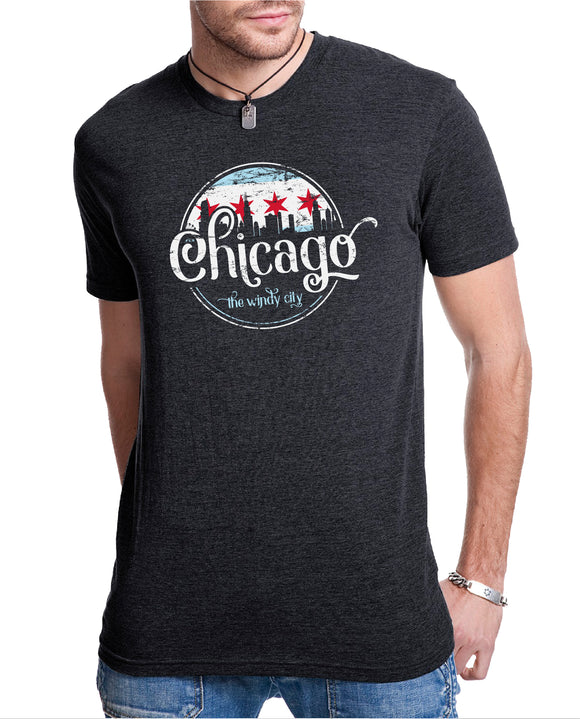 Chicago Vintage Wash Tri Blend Tee