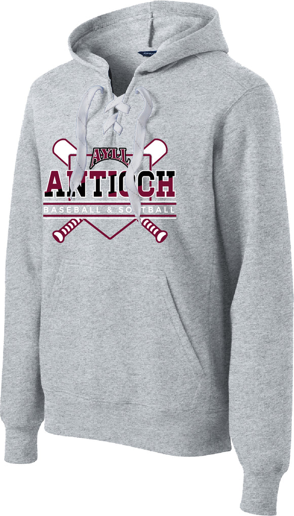 AYLL lace up pullover