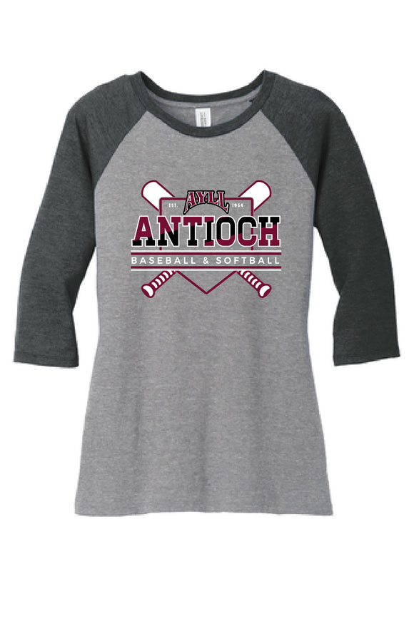 AYLL ladies fit baseball style t-shirt