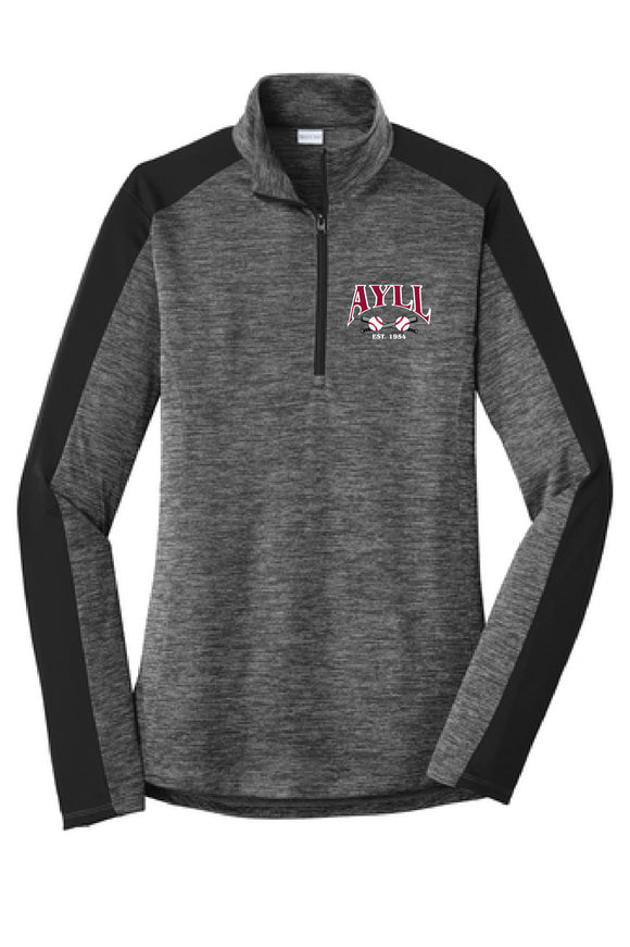 AYLL heather ladies fit performance 1/4 zip