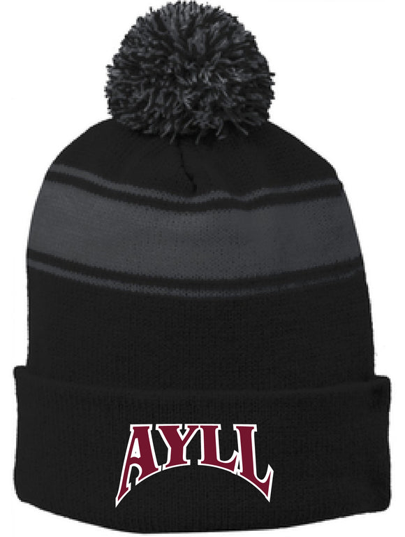 AYLL Embroidered Pom Pom Beanie