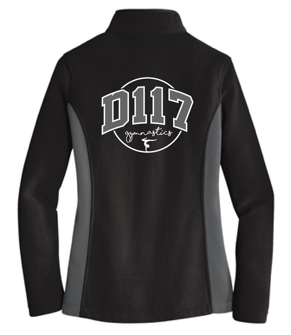 D117 gymnastics full zip fleece jacket