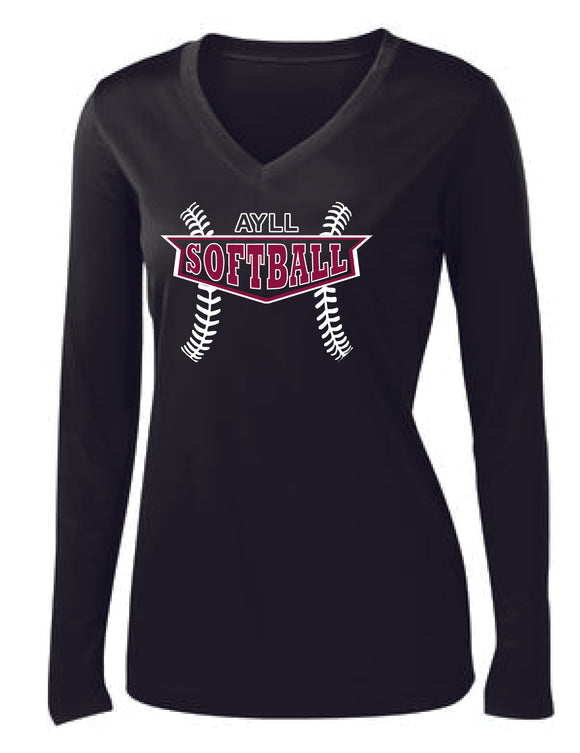 AYLL Softball ladies performance long sleeve