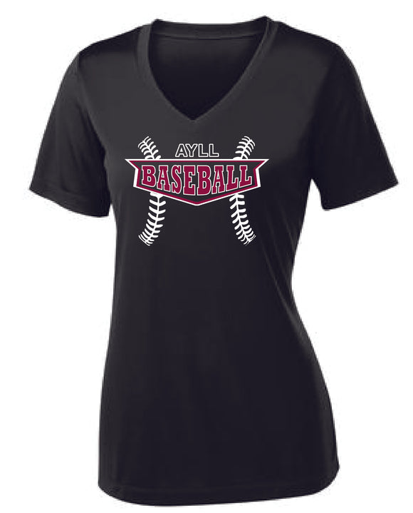 AYLL Baseball ladies performance short sleeve