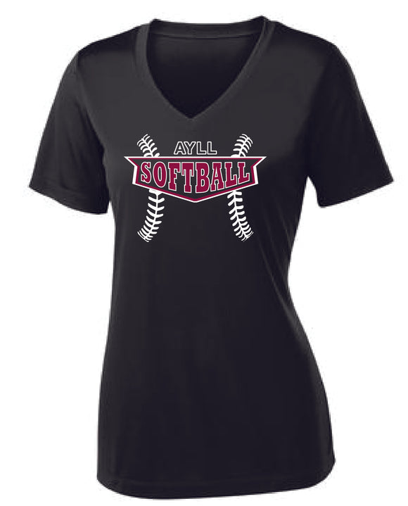 AYLL Softball ladies performance short sleeve