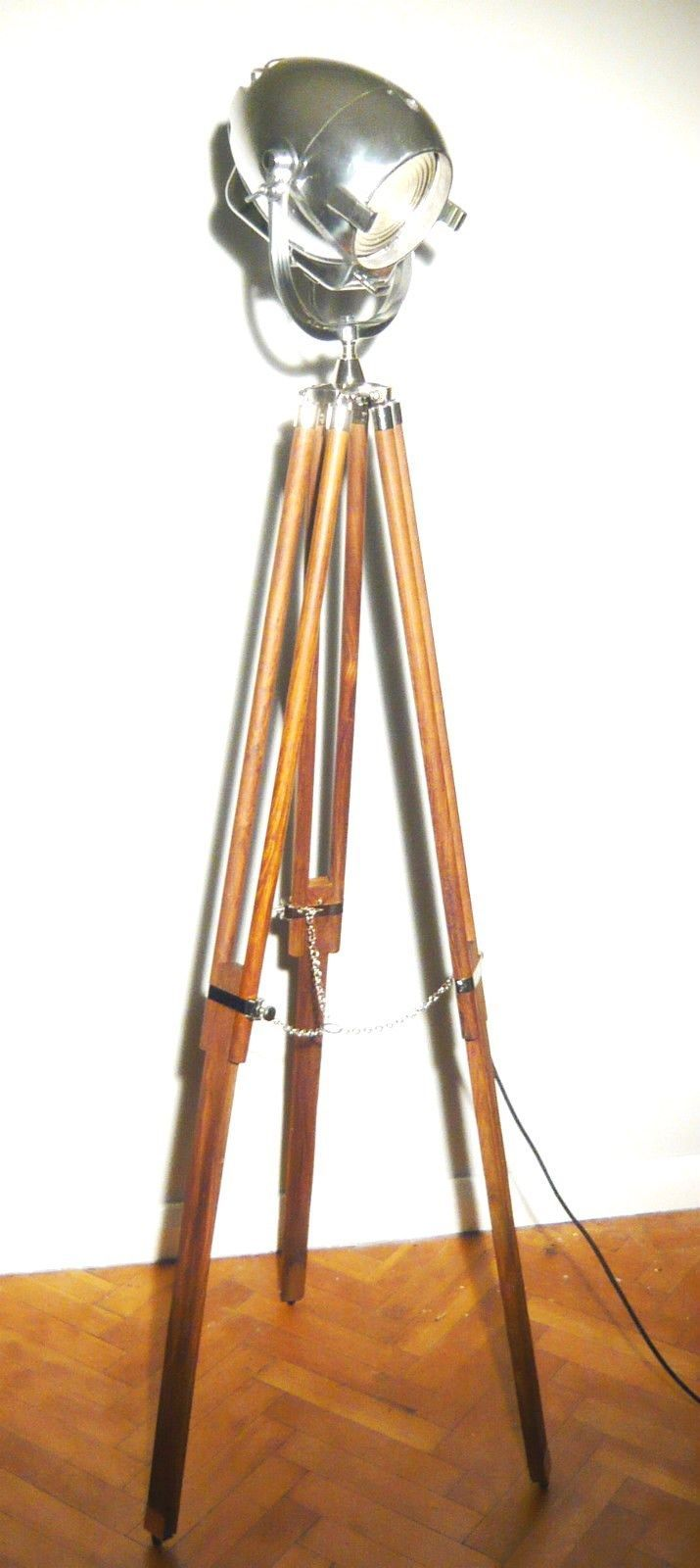 Vintage Antique Theatre Light By Strand Of London Tripod