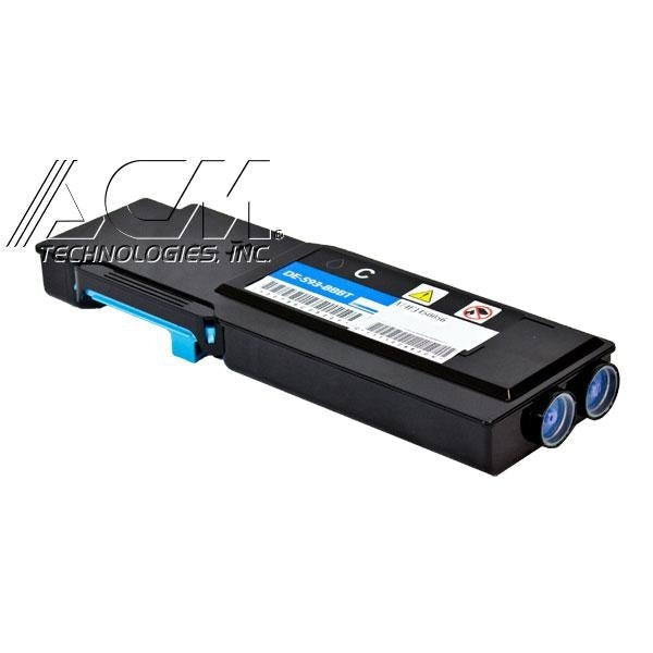 New compatible Dell 593-BBBT (TW3NN) toner cartridge, 4,000 page yield Cyan