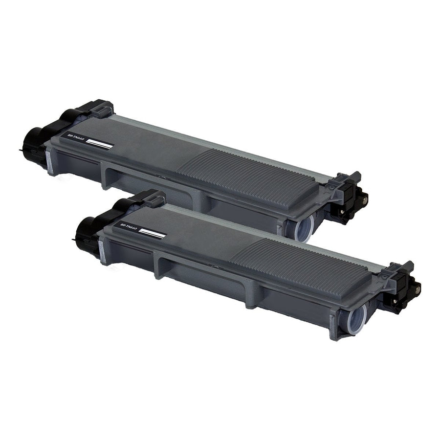 2 pack-New compatible Brother TN660  toner cartridge, 2,600 page yield Black