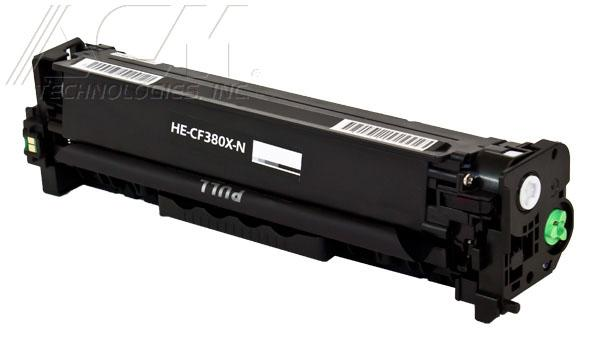 New compatible Hewlett Packard 312X (CF380X) toner cartridge, 4,400 pages High Yield Black