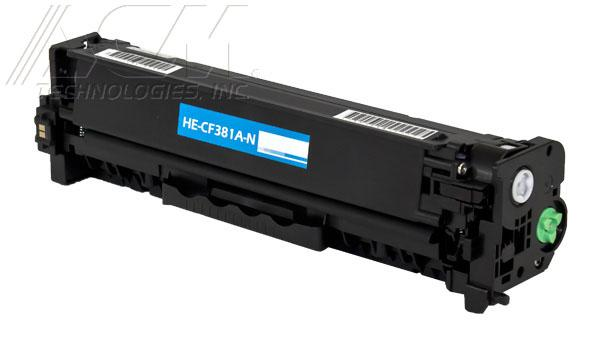New compatible Hewlett Packard 312A (CF381A) toner cartridge, 2,700 page yield Cyan