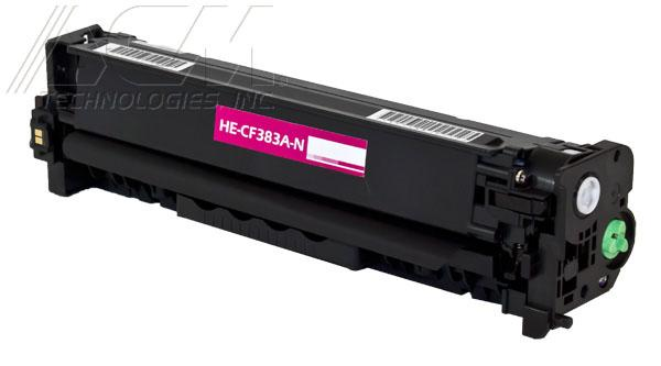 New compatible Hewlett Packard 312A (CF383A) toner cartridge, 2,700 page yield Magenta