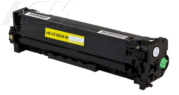 New compatible Hewlett Packard 312A (CF382A) toner cartridge, 2,700 page yield Yellow