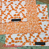 Elephants and Orange Blossoms Handmade Handkerchief EDC Hank