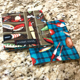 Gone Fishing Handmade Handkerchief EDC Hank