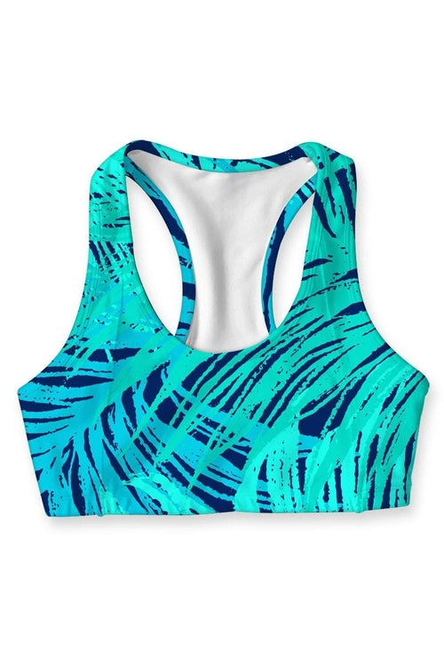 Tropical Dream Stella Seamless Racerback Sport Bra